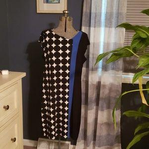 Color block knit dress.